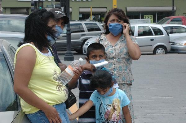 Una familia en calles de México