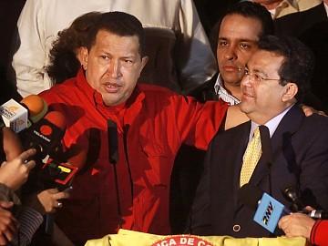 Hugo Chávez y el presidente del Polo Democrático, Jaime Dussan