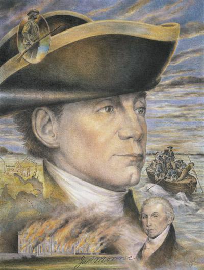 El presidente James Monroe, fuerte defensor de la independencia, y opositor de los planes de la monarquía y el vaticano para someter de nuevo a las naciones liberadas