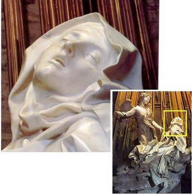 El éxtasis de Santa Teresa, obra de Gian Lorenzo Bernini. Erotismo religioso