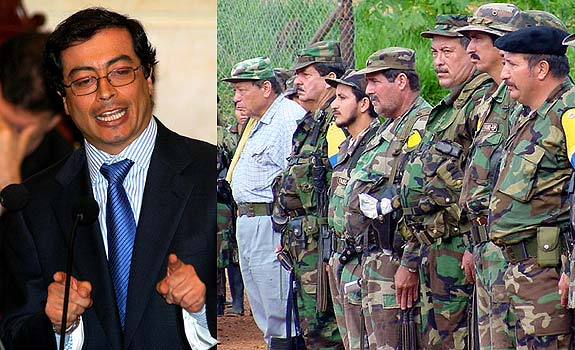 """Gustavo Petro, """"la cumbre moral de la patria"""" (Foto Revista Cambio)"""