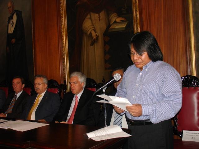 Francisco Rojas Birry y su amigo el alcalde