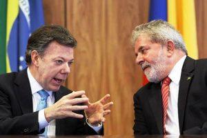 Juan Manuel Santos y Lulla da Silva