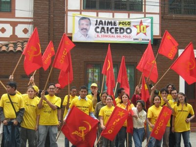 Gloria Inés Ramírez, congresista del comunista Polo Democrático, en un homenaje a Gilberto Vieira y al Partido Comunista