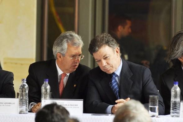 El Magistrado Arrubla y Juan Manuel Santos