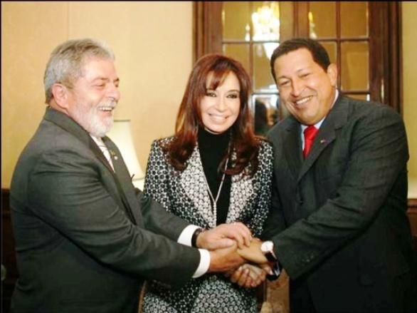 Lulla, Kirchner y Chávez