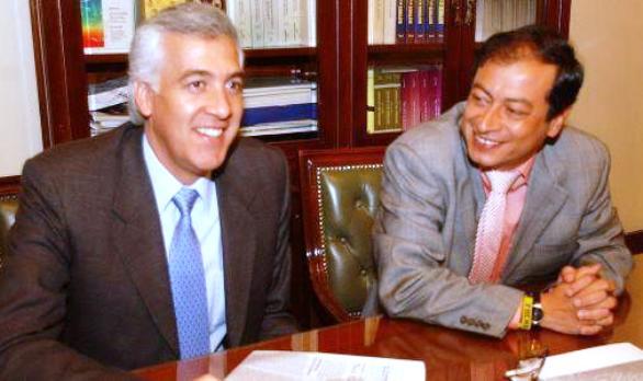 Samuel Moreno y Gustavo Petro