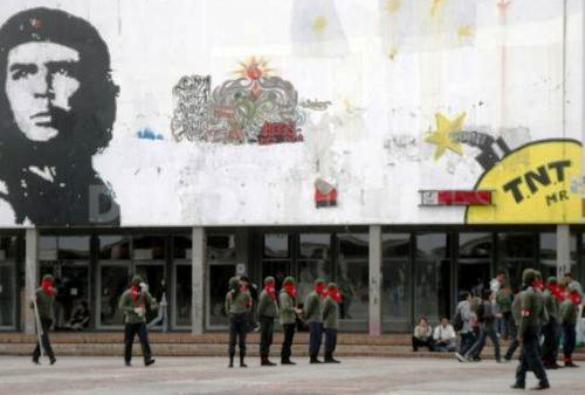 Miembros terroristas del ELN en la Universidad Nacional de Colombia. Con total impunidad