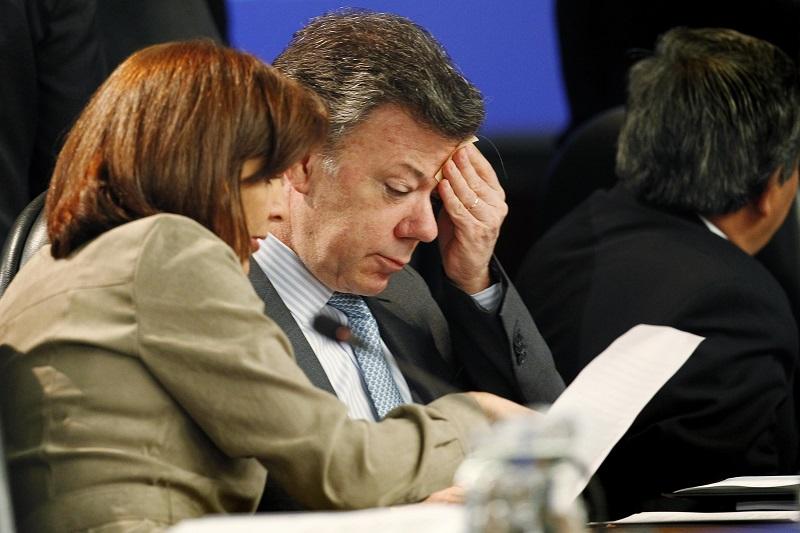 Juan Manuel Santos y Canciller Holguín