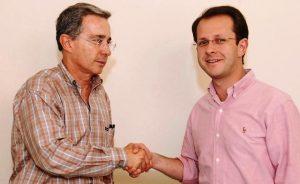 Andrés Felipe Arias y Álvaro Uribe
