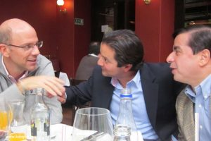 Alejandro Santos, David Luna y Juan Fernando Cristo
