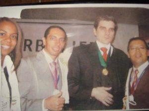 Félix de Bedout con Pastor Perafán y David Murcia, dos ilustres empresarios colombianos