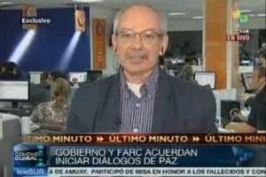 Jorge Enrique Botero informando para Telesur. !Y por eso lo acusan de chavista..! !Qué ignominia..!