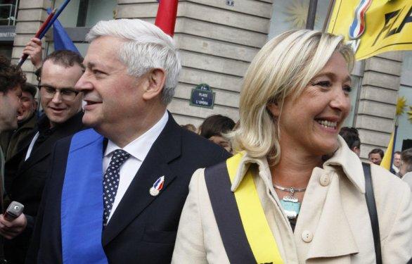 Bruno Gollnisch y Marine Le Pen