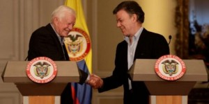 Jimmy Carter y Juan Manuel Santos