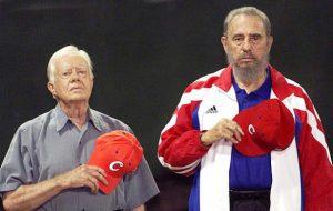 Jimmy Carter y su amigo Fidel Castro