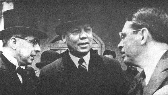 Alfonso López Pumarejo, Enrique Olaya Herrera y Eduardo Santos