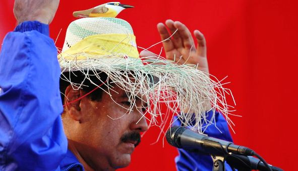 Nicolás Maduro y su pajarito parlante