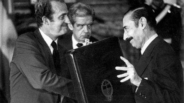 Jorge Rafael Videla y el Rey Juan Carlos