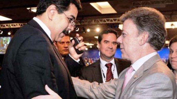 Nicolás maduro y Juan Manuel Santos