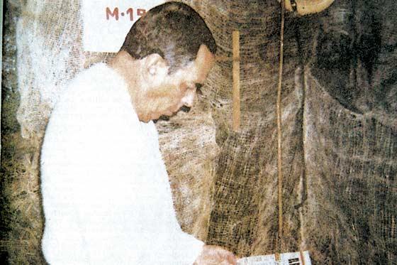 Fotografía que el M-19 tomó de su secuestrado, Álvaro Gómez Hurtado