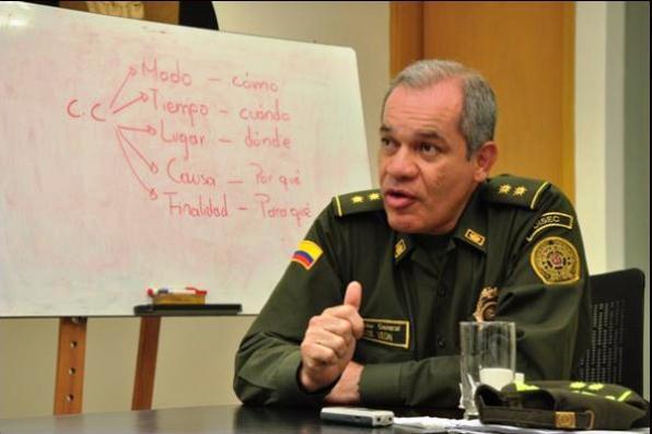 General José León Riaño,  Director de la Policía Nacional