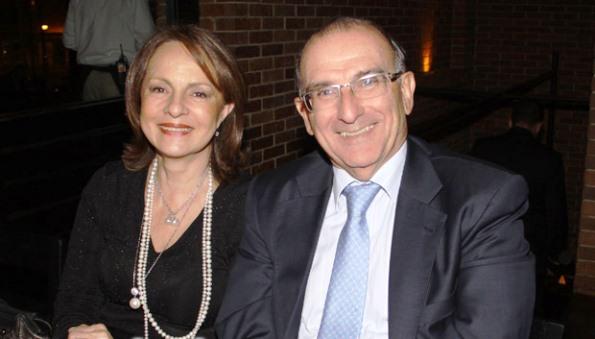Humberto De la Calle y su esposa, Rosalba Restrepo