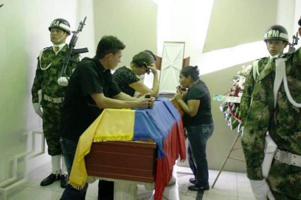 Funeral de los soldados asesinados por el ELN y las FARC en Arauca, este fin semana