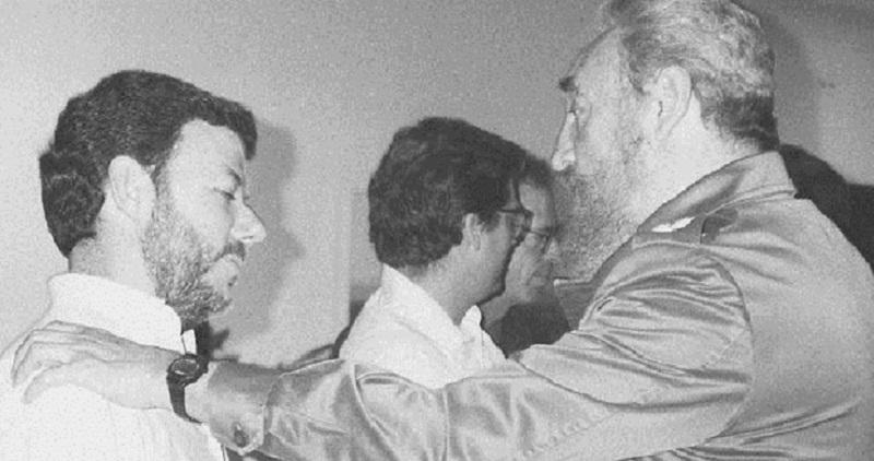 Fidel Castro y Juan Manuel Santos