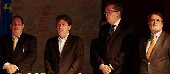 Cesar Caballero, Bruce Mac Master, Fernando Carrillo y Gonzalo Sánchez
