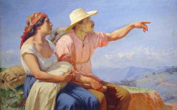 """""""Horizontes"""", cuadro de Francisco Antonio Cano, alusivo a la colonización antioqueña"""