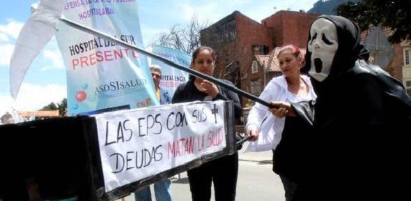 Protestas por la crisis hospitalaria en el país