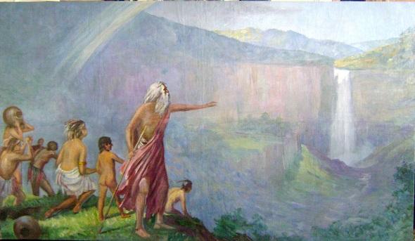 Bochica, óleo sobre lienzo de Ricardo Gómez Campuzano