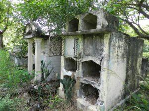 El abandono del cementerio es total