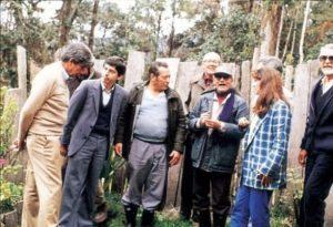 César Gaviria con sus amigos de las FARC. También están allí Alfonso López Michelsen y Noemí Sanín