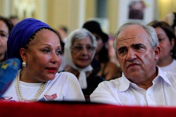"""Piedad Córdoba, alias """"teodora"""", y el ex presidente Ernesto Samper"""