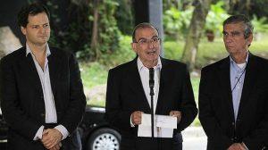 Sergio Jaramillo, Humberto de la Calle y el general Mora Rangel. Negociadores con las FARC en La Habana