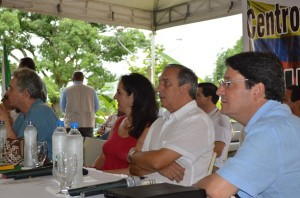 Luis Alfredo Ramos, María Fernan Cabal et Francisco Santos (Foto Periodismo Sin Fronteras)