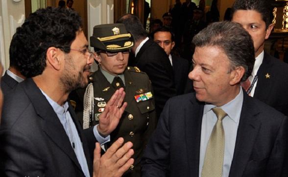 Iván Cepeda y Juan Manuel Santos