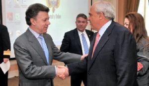 Juan Manuel Santos y Ernesto Samper, aliados