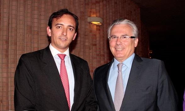 Miguel Samper Strouss, viceministro de Justicia, y Baltasar Garzón, asesor del gobierno