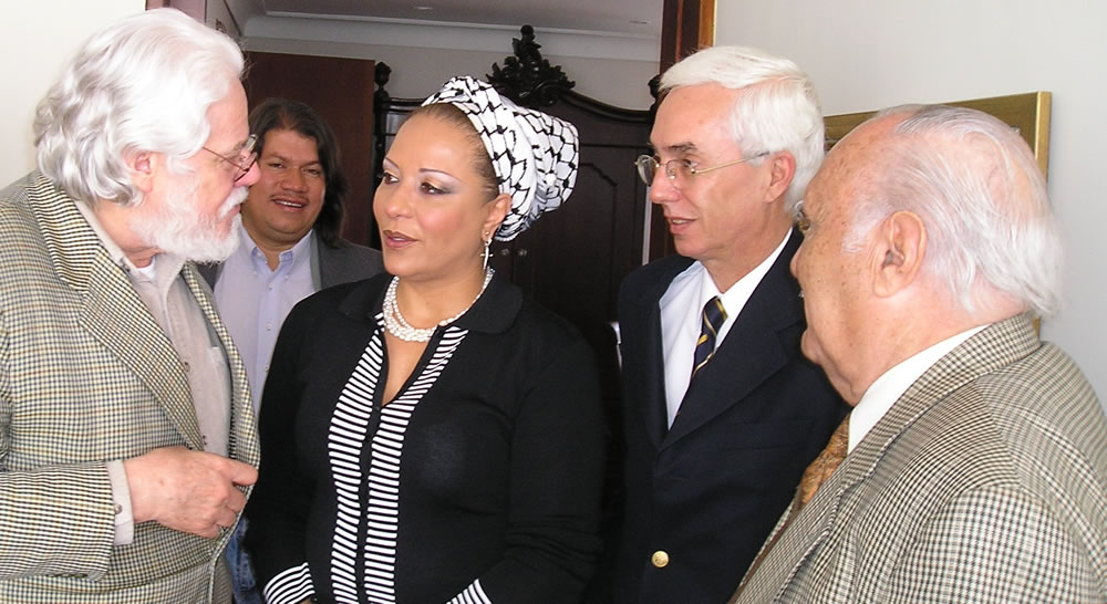 Carlos Gaviria, Venus Albeiro Silva y Jorge Robledo, del Polo Democrático, miembros del Foro de Sao Paulo, con Piedad Córdoba, del Partido Liberal y Marcha Patriótica, grupo político de las FARC, también del FSP