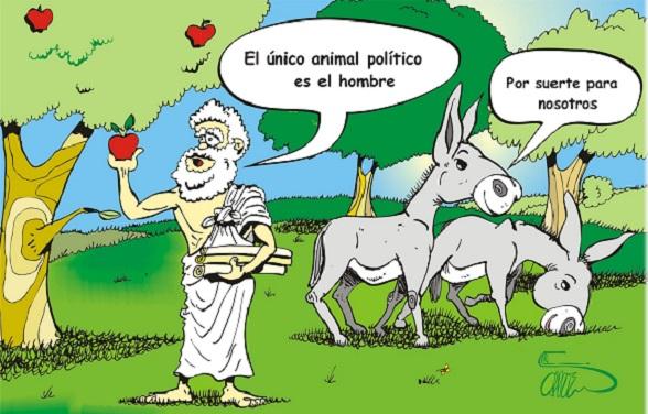 Aristóteles, con humor