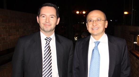 Vicefiscal Jorge Perdomo y Fiscal general Eduardo Montealegre
