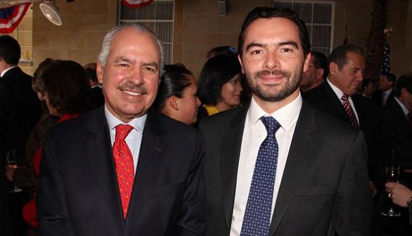 Darío Arismendi, periodista oficialista, y Andrés Villamizar Pachón, director de la Unidad Nacional de Protección