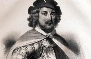 Jean de Béthencourt, conquistadoy primer Rey feudatario de las Canarias. Su parentela llegó al Nuevo Mundo