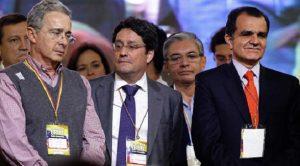 Álvaro Uribe, Francisco Santos y el candidato Oscar Iván Zuluaga