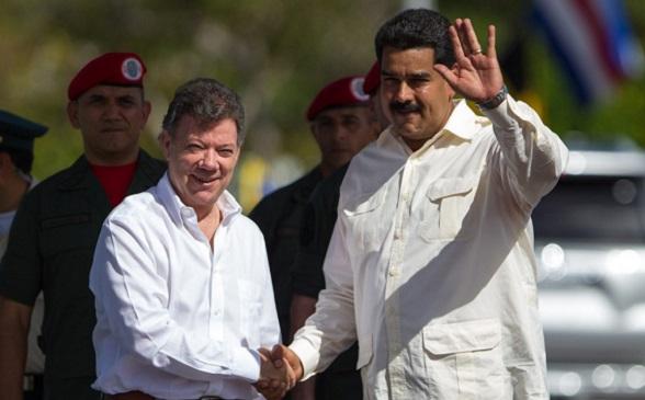Juan Manuel Santos y Nicolás Maduro, un dúo que lleva a la desgracia a Colombia