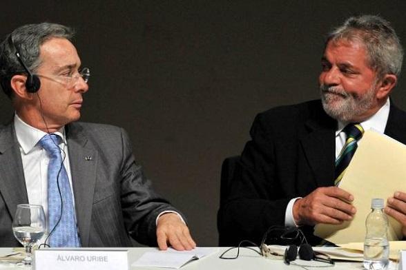 Álvaro Uribe y Lula da Silva
