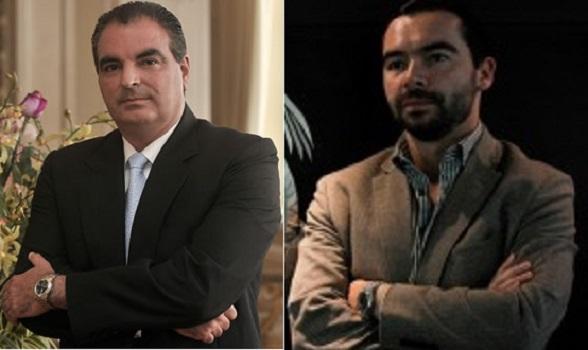 Aurelio Iragorri Valencia, ministro del Interior, y Andrés Villamizar Pachón, Director de la Unidad Nacional de Protección